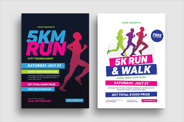 5k Run Event Flyer Template