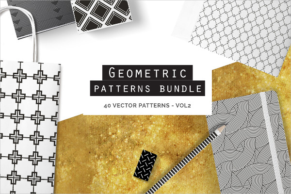 A Great Bundle of 40 Seamless Vector Patterns