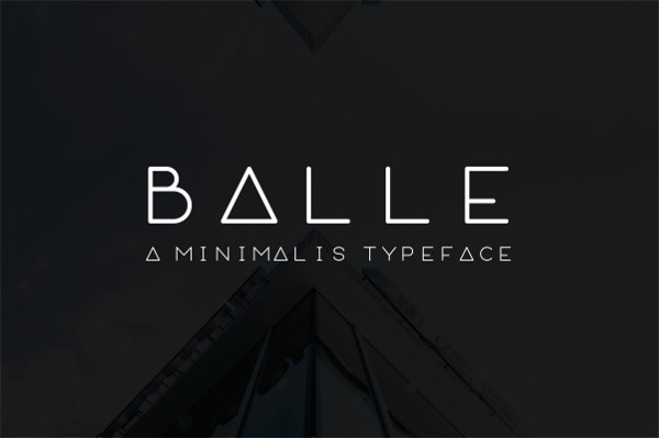 Balle Rounded Font