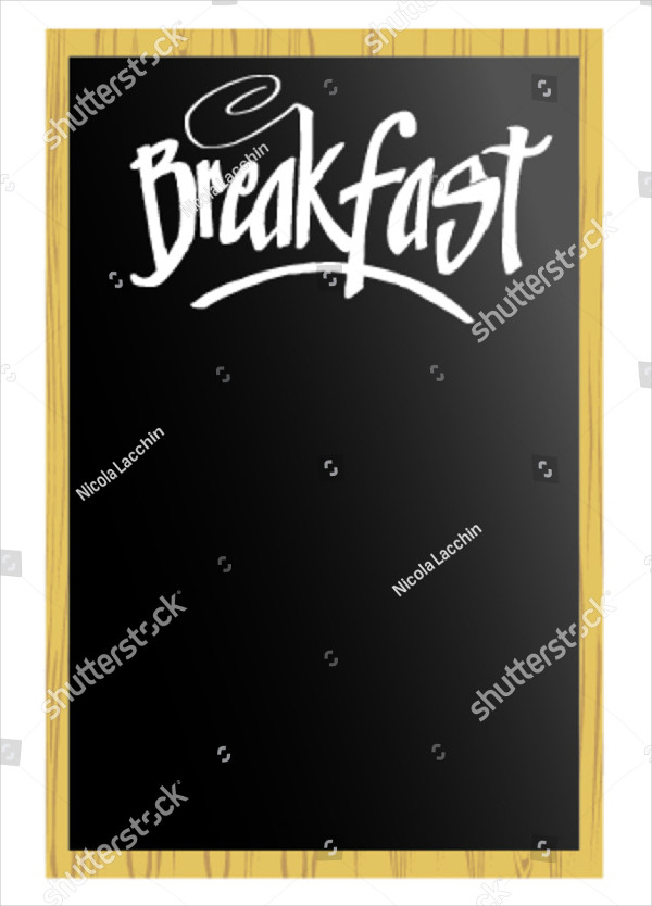 Blank Breakfast Menu Vector