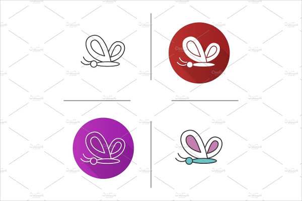 Flat Design Butterfly Icon
