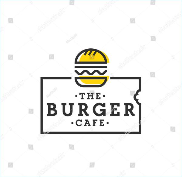 Burger Cafe Logo Template