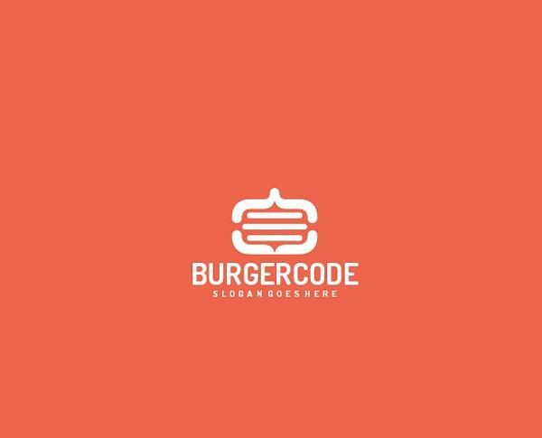 Burger Code Logo Template