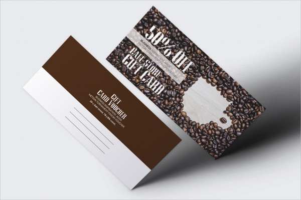Cafe Discount Gift Voucher Design