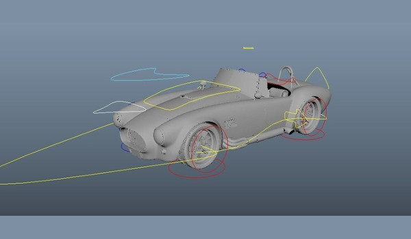 Car Vehicle Rigged Practice Free 3D Model