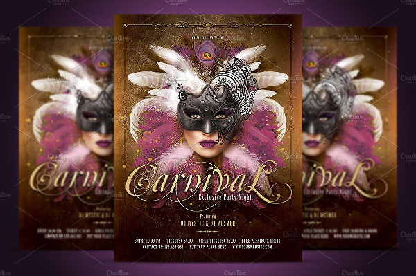 Carnival Mask Party Flyer Design