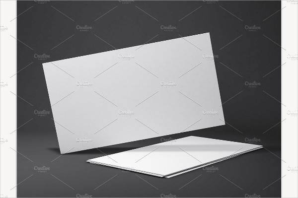 Clean Blank Business Cards