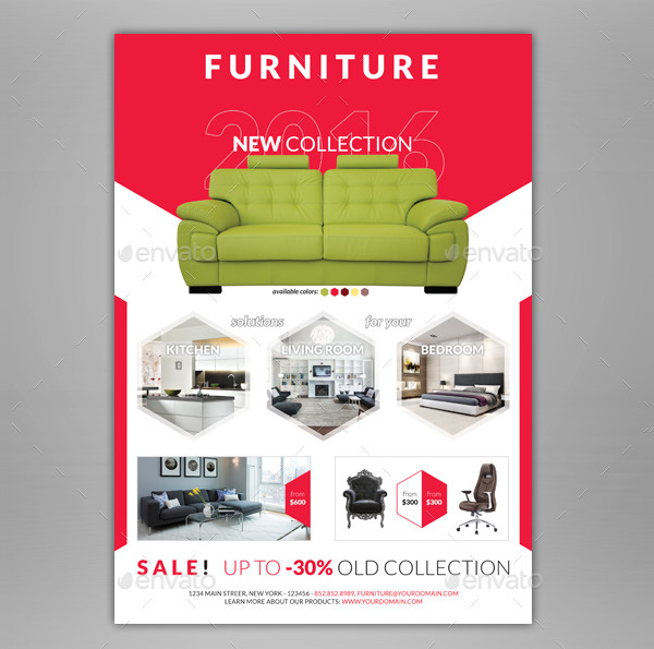 Colorful Furniture Shop Flyer Template