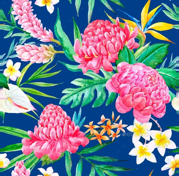Colorful Tropical Pattern