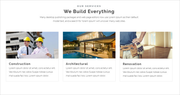 Construction and Building Website Template