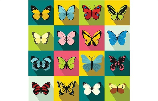 Perfect Butterfly Icon Set