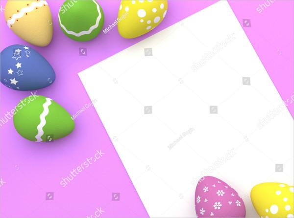 Easter Eggs & Postcard Mockup