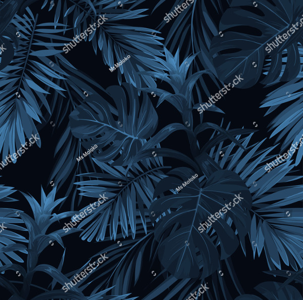 Exotic Tropical Pattern Vector