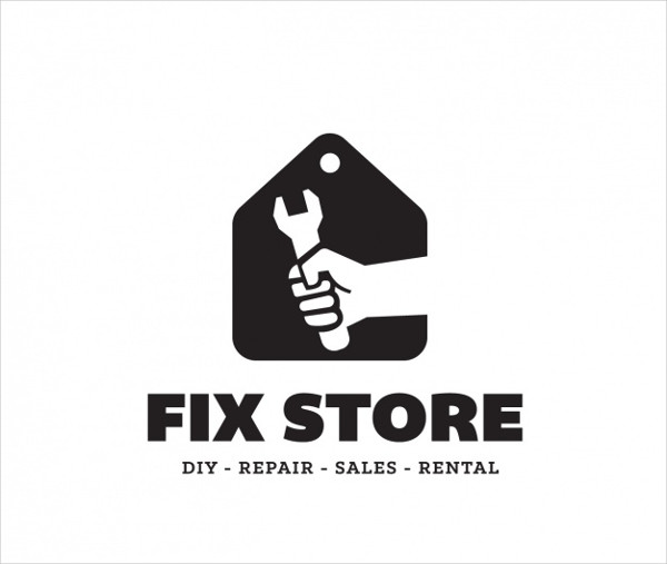 Fix Store Logo Template Free Vector
