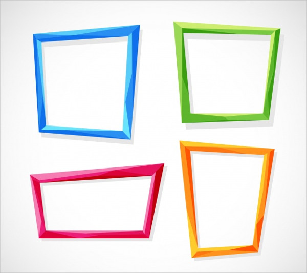 Flat Colorful Frames Collection Free Download