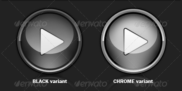 Glossy Play Video Buttons