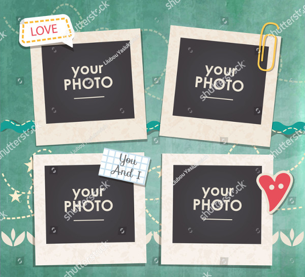 Hipster Photo Frame Vector Template