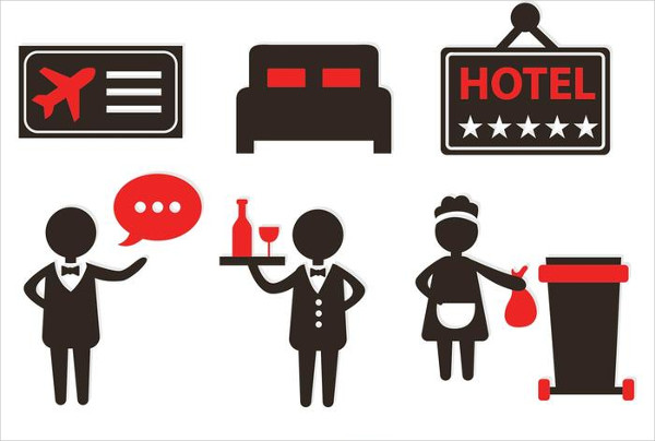 Huge Set of Hotel Vector Icon Free