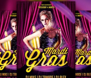 Mardi Gras Party Flyer Templates
