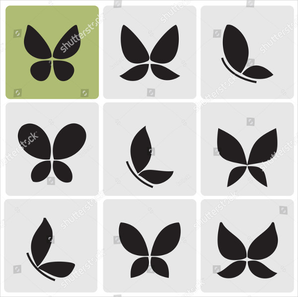 Abstract Butterflies Icons