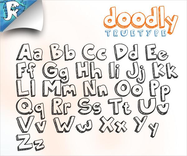 Popular Doodle Fonts