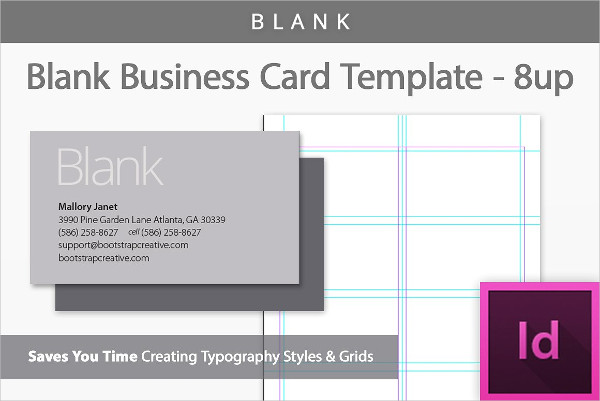 Premade Blank Business Card Template