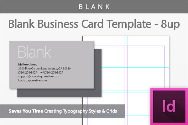Printable Blank Business Cards Template