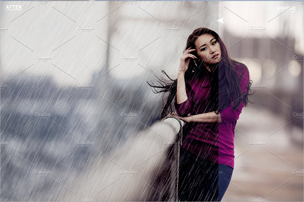 Real Rainy Effect Photoshop Actions
