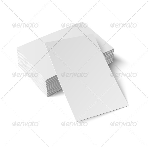 Realistic Blank Business Cards