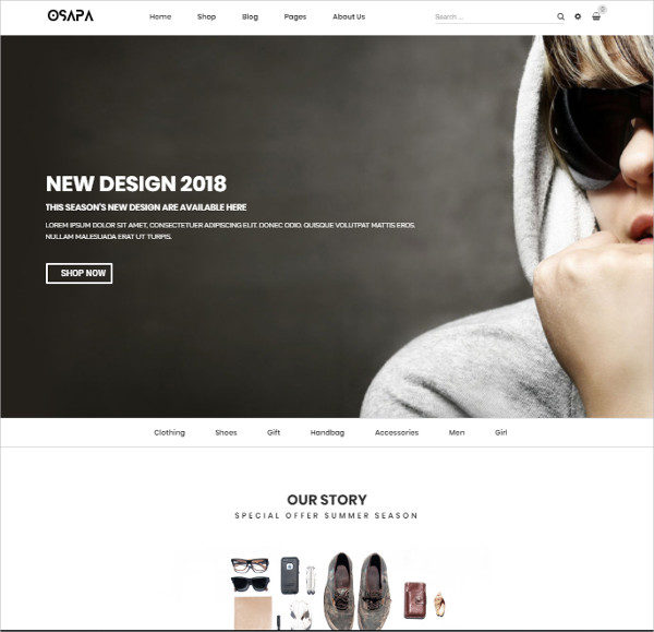 Unique Fashion Design Theme