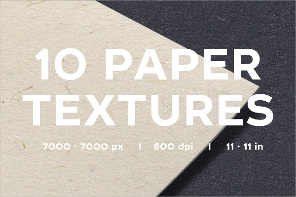 10 High-Resolution and Realistic Paper Textures