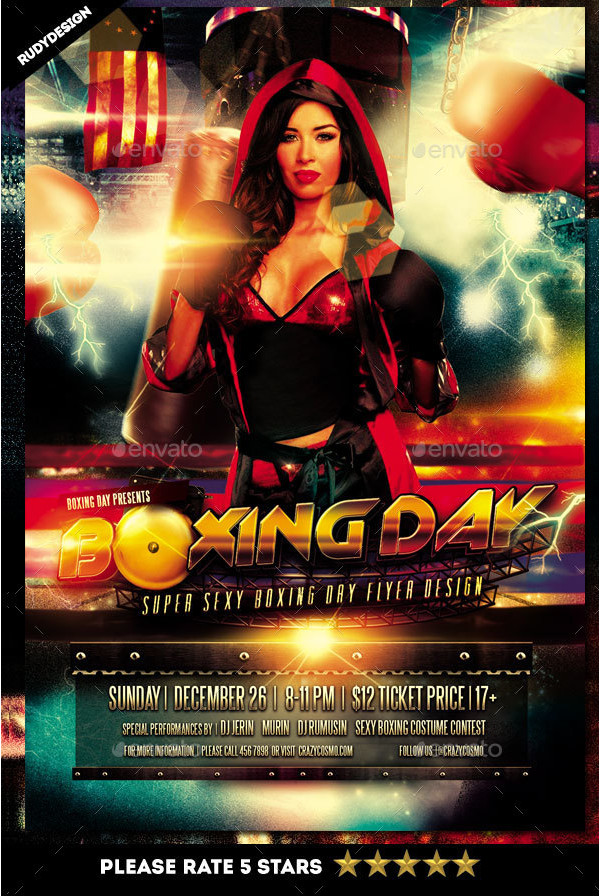 Super Sexy Boxing Day Flyer Design
