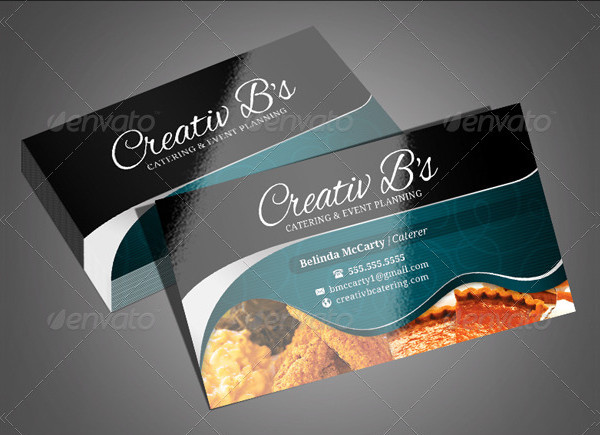 Chef's Catering Business Cards Design