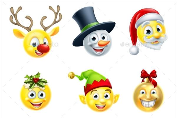 Christmas Emoji Icon Set