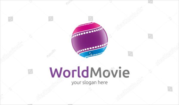 World Movie Logo Vector