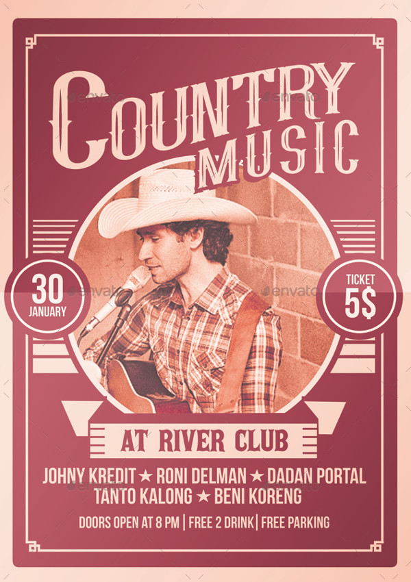 Country Music Poster & Invitation Design