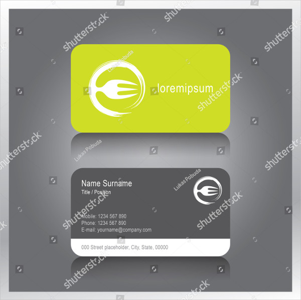 Creative Business Card for Catering Business