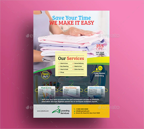 Dry Cleaning Service Flyer Template