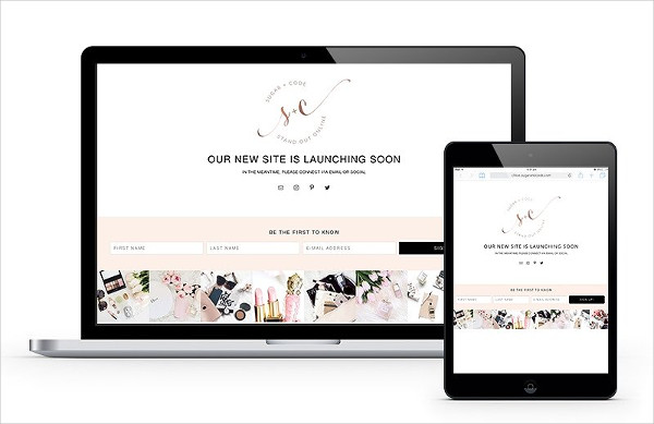 Feminine Coming Soon Page Template