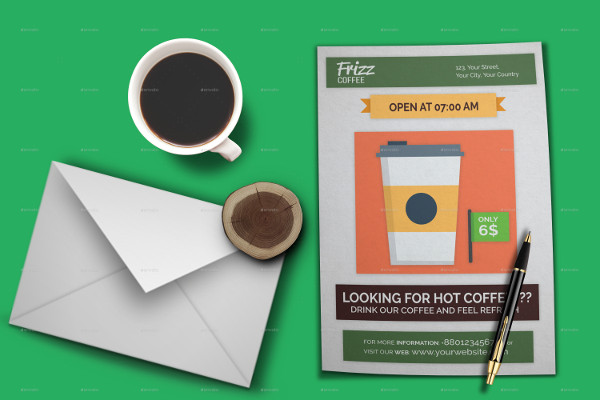 Flat Coffee Shop Flyer Design