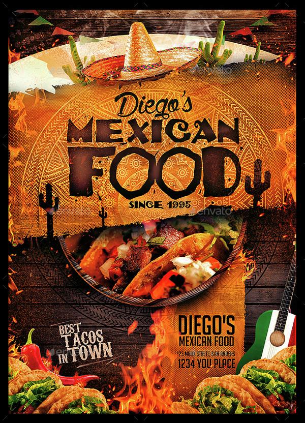 Funny Mexican Food Menu Design
