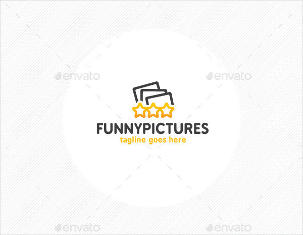 Funny Pictures Logo Template