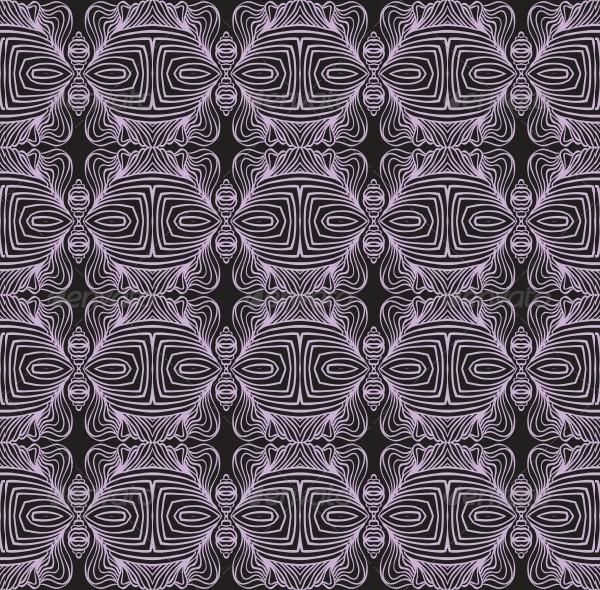 Geometric Linear Art Deco Pattern