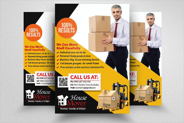 Fully Editable Moving House Services Flyer