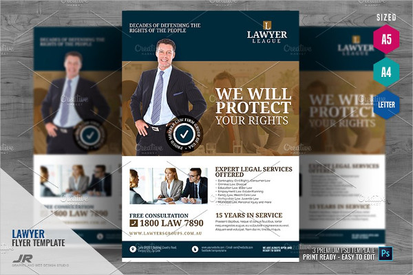 Law and Legal Counsel Flyer Design