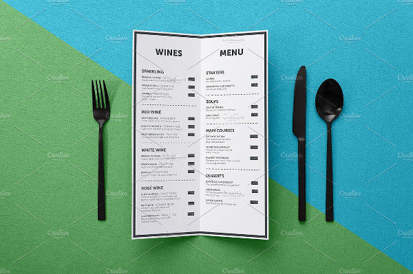Menu Mockup with Smart Layer