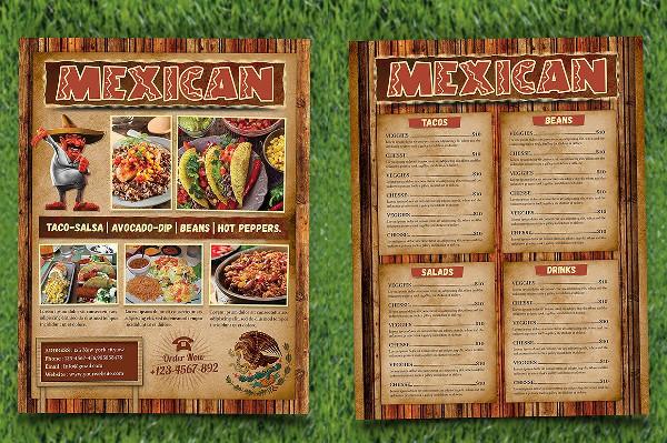 Mexican Food Menu Flyer Template