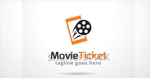 Movie Tickets Logo Template Design