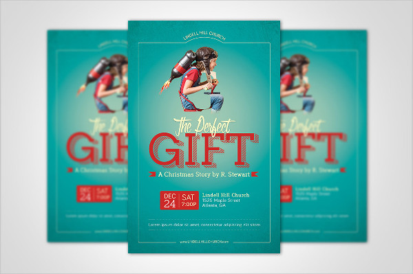 Perfect Gift Church Posters Designs
