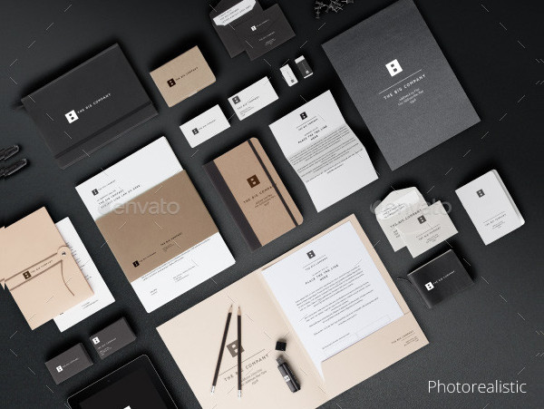 Photorealistic PSD Mock-up for Stationery
